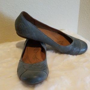 Børn Blue Leather Flats